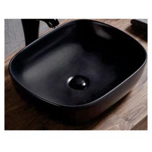 Badiha counter top black basin 485×395