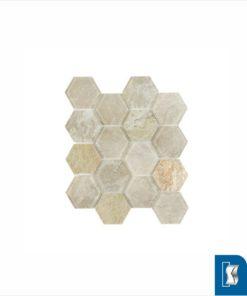 Hexagon Honeycomb Sand Glass/Stone Mosaic